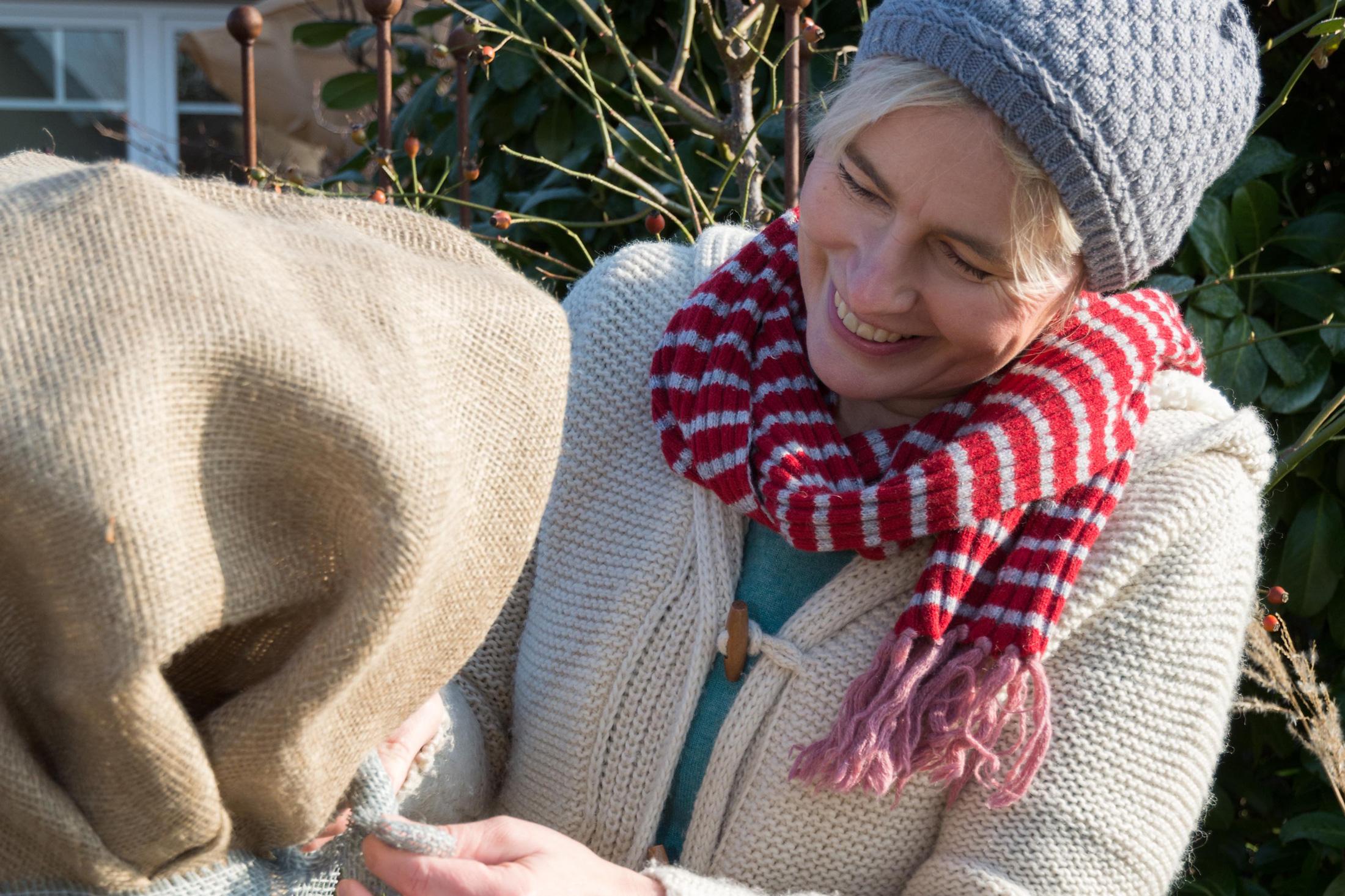 Winterschutz für das Johannisbeer-Hochstämmchen