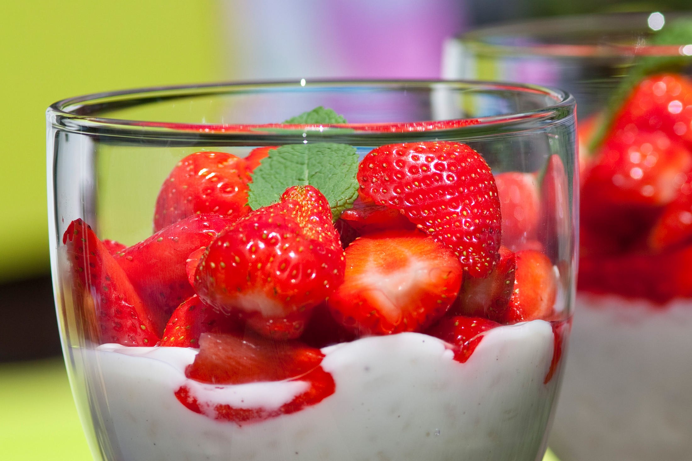 Erdbeeren mit Milchreis