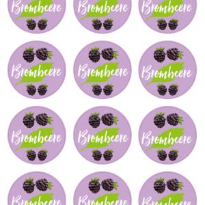 Etiketten für Brombeeren-Konfitüre